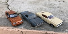 Revell Trio: 1993 Ford Mustang Cobra SVT, 1967 Dodge Charger, 1968 Dodge Charger